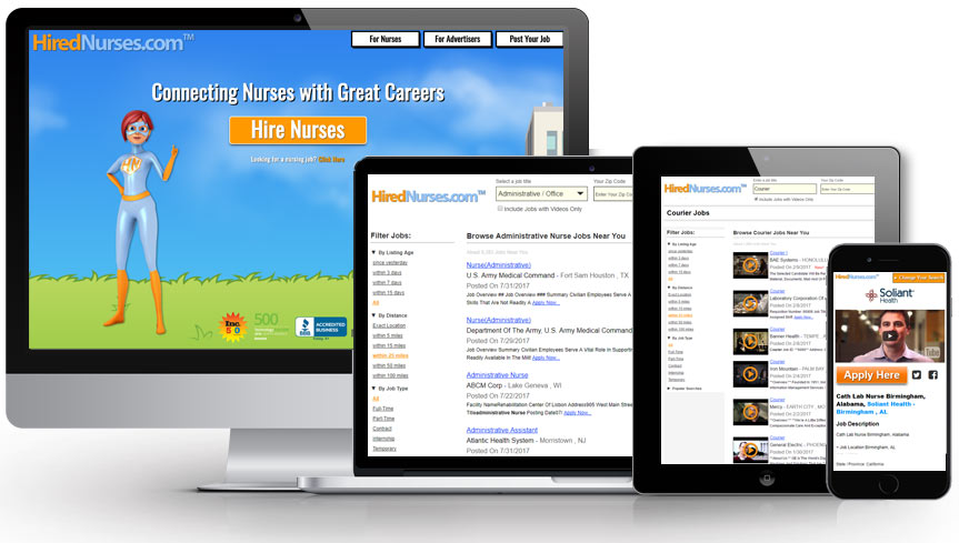 HiredNurses responsive views